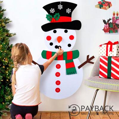 Фетровий сніговик. Купити з cashback на Aliexpress