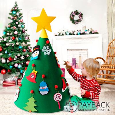 Фетровая елка. Игрушка для детей. Купить с кэшбэком на Алиэкспресс