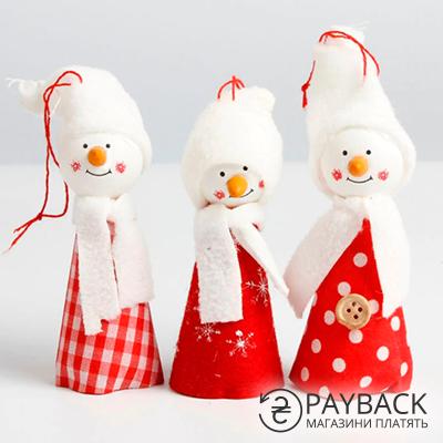 Снеговики, декор для елки. Купить с cashback на Aliexpress