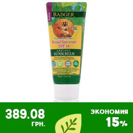 Badger Company солнцезащитный крем и репеллент - SPF 30+