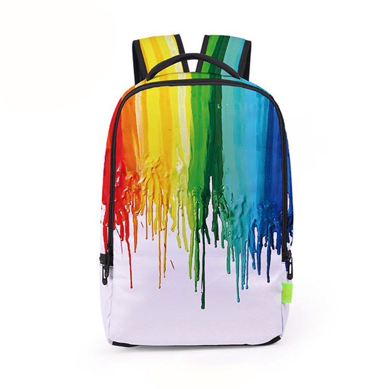 Рюкзак з принтом rainbow