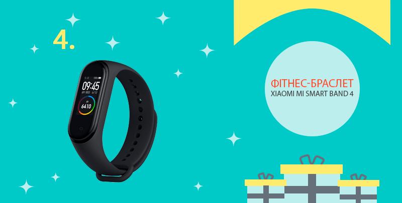 Четвертий приз від cashback сервісу: фітнес-трекер Xiaomi Mi Smart Band 4