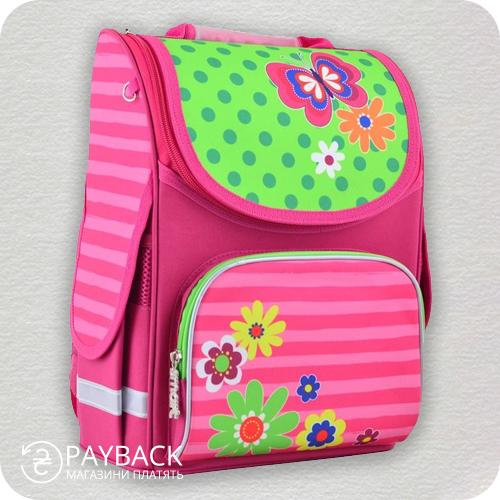 Рюкзак шкільний каркасний Smart PG-11 Flowers
