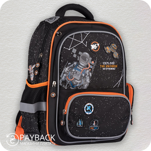 Рюкзак YES S-70 Explore the universe, чорний