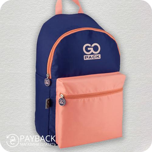 Рюкзак GoPack Сity 159-3 фіолетовий, персиковий