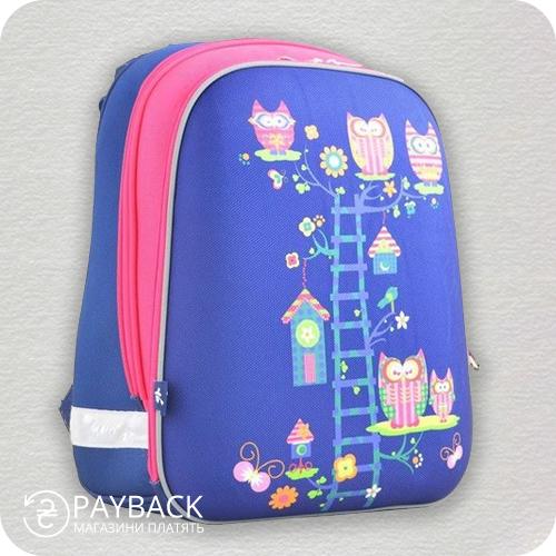 Рюкзак шкільний, каркасний YES H-12 Owl blue