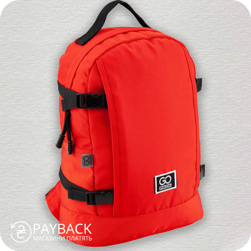 Рюкзак GoPack Сity GO20-156M-1 червоний
